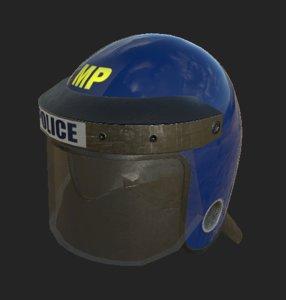 metropolitan police nato helmet 3D model