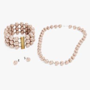 pearl jewelry 3D