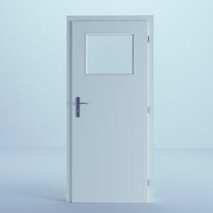 3D door white