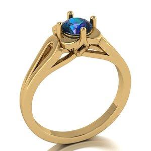 ring gem luxury 3D model