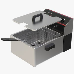 3D model single tank electric fryer