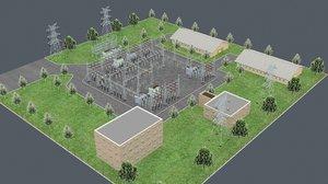 3D electrical substation model