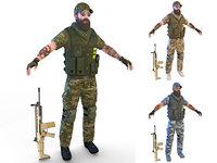 4k soldier scar 3D