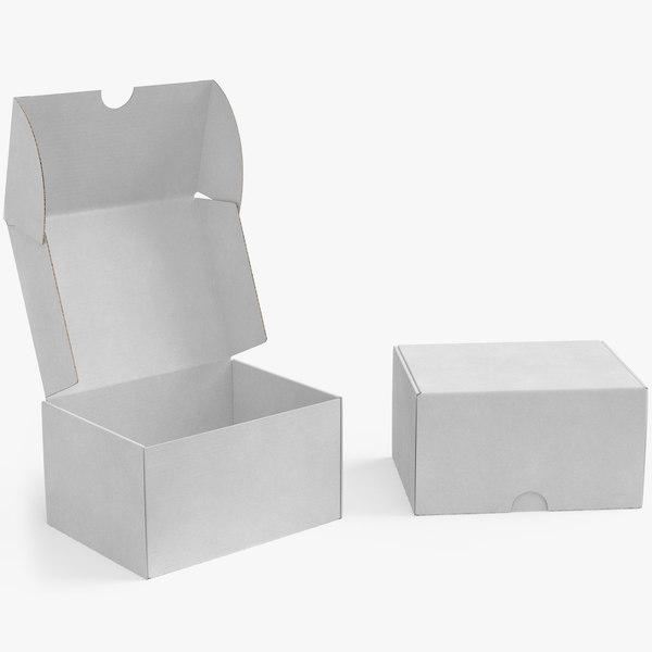 3D cardboard box 05 rigged