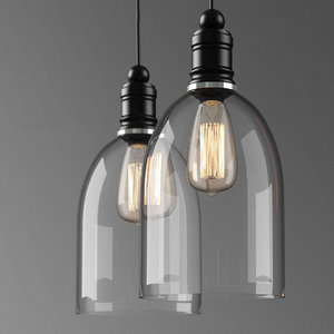 3D industrial ceiling lamp light