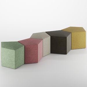 3D pentagon fabric