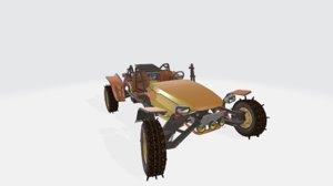 3D mesa car gold