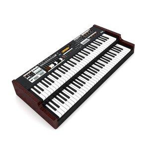 piano hammond sk2 3D model