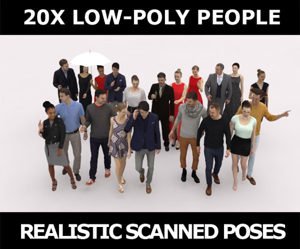 scanned people casual 3D model