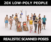 3D scanned characters people casual model