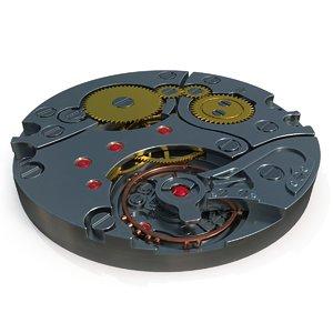 watch mechanism pbr 3D