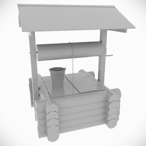 3D countryside untextured model