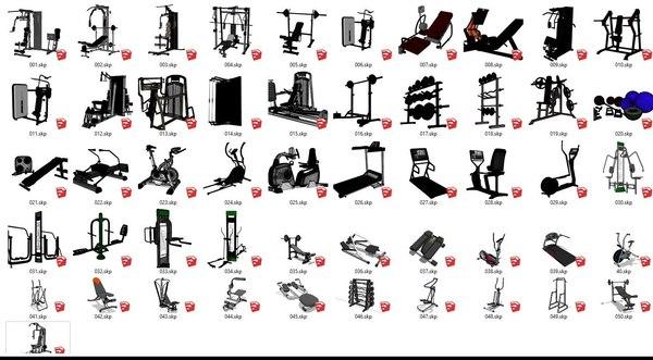 3D 51 gym equipment model