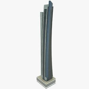 dubai ocean heights 3D model