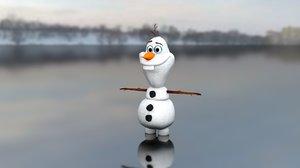3D olaf frozen model