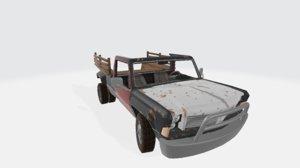 3D kodiak farm car black model
