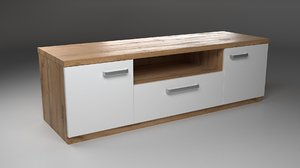 photorealistic tv stand 3D model