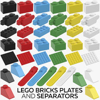 lego bricks plates separators model