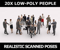 3D scanned characters people casual