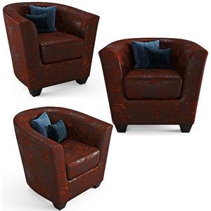 3D model armchair gobi