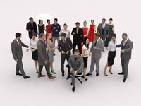 20x LOW POLY BUSINESS ELEGANT EVENT MAN WOMAN PEOPLE VOL02 CROWD