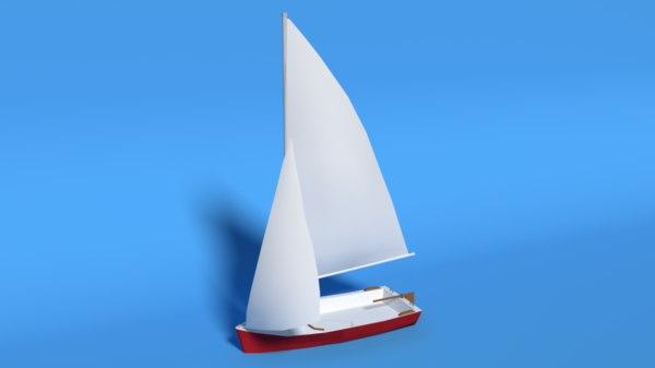 javelin dinghy sailboat boat model