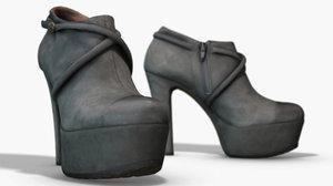 3D scanned pbr boots model