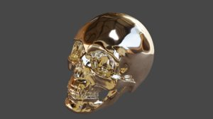 3D shiny skull model