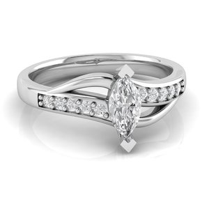 engagement ring marquise gem model