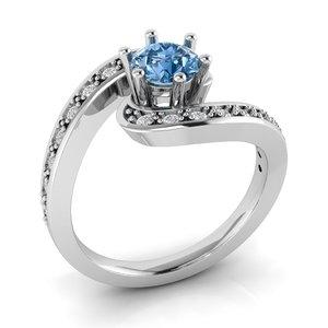 3D tension ring gems model