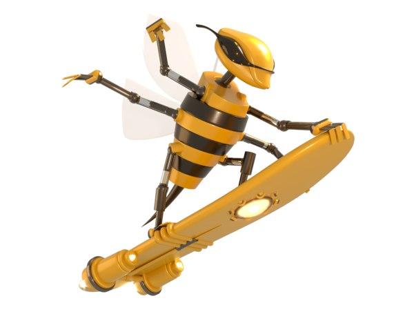 science fiction robotics 3D model