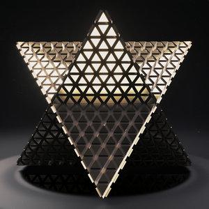 3D model merkaba 2