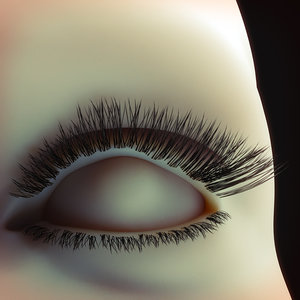 eyelashes faces 3D