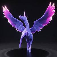 3D model unicorn 2