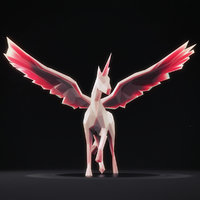 3D unicorn 1 model