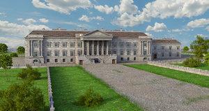 3D hamilton palace model