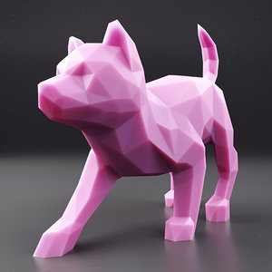 3D husky puppy 3 model