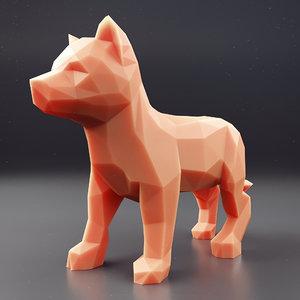 husky puppy 2 3D model