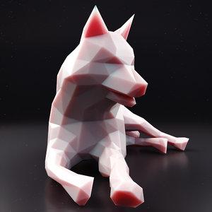 husky 3 3D model