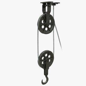 3D metal pulley rope