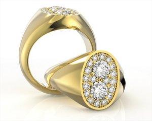 3D signet ring model