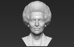 3D model margaret thatcher bust ready