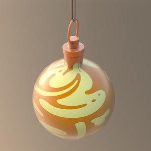 christmas ornament ball gold model