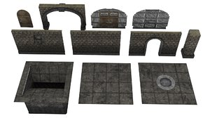 3D dungeon pack