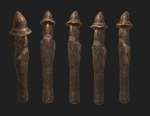 3D slavic wooden medieval settlement