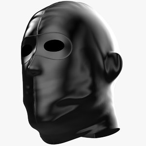 3D latex mask model