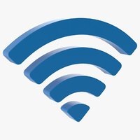 3D wifi symbol model