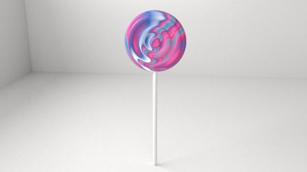 3D rainbow lollipop 6