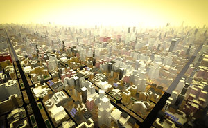 3D buildings scale big city