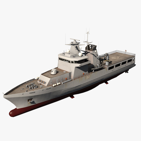 3D arafura class opv vessel ship